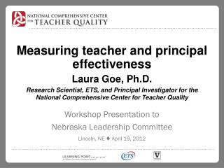Measuring teacher and principal effectiveness