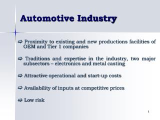 Automotive-the Bulgarian Economy