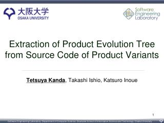 Extraction of Product Evolution  Tree from  Source Code of Product Variants