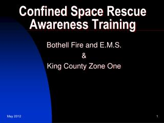Confined Space  Rescue Awareness Training