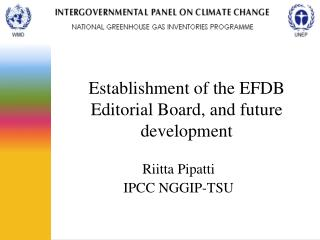 Establishment of the EFDB Editorial Board, and future development