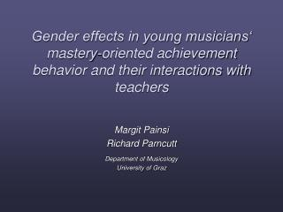 Gender effects in young musicians