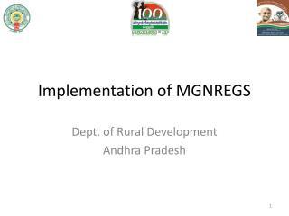 Implementation of MGNREGS