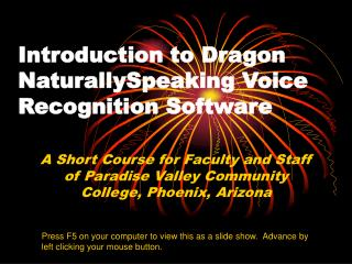 Introduction to Dragon NaturallySpeaking Voice Recognition Software
