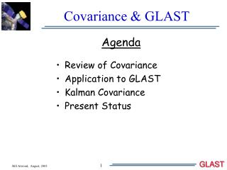 Covariance  GLAST