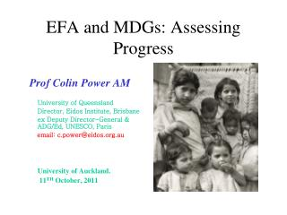 EFA and MDGs: Assessing Progress