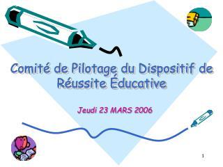 Comité de Pilotage du Dispositif de Réussite Éducative