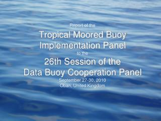 Global Tropical Moored Buoy Array: