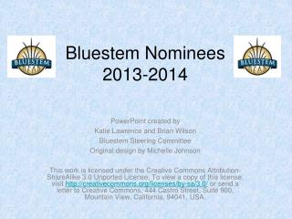 Bluestem Nominees  2013-2014