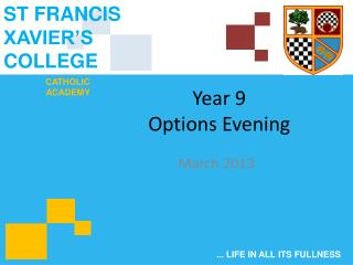 Year 9 Options Evening