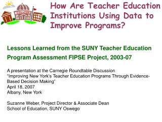 How Are Teacher Education Institutions Using Data to Improve Programs?