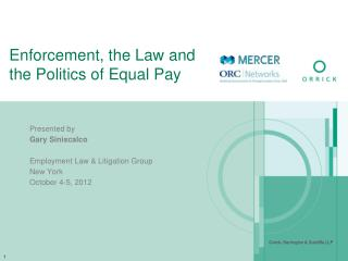 Enforcement, the Law and the Politics of Equal Pay
