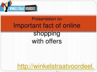 Find online Aanbiedingen and Winkelstraat