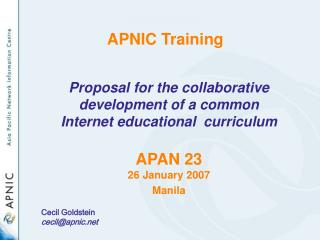Welcome! APNIC Training