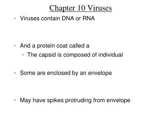 Chapter 10 Viruses