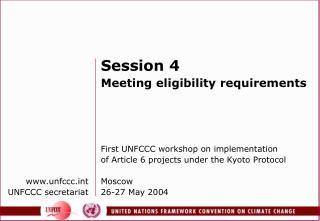 www.unfccc.int UNFCCC secretariat