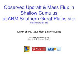 Yunyan Zhang, Steve Klein & Pavlos Kollias CFMIP/GCSS Boundary Layer WG