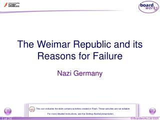 The Weimar Republic and its Reasons for Failure