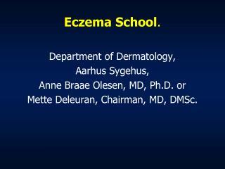 Eczema School .
