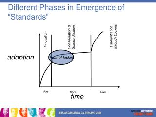 """Different Phases in Emergence of """"Standards"""""""