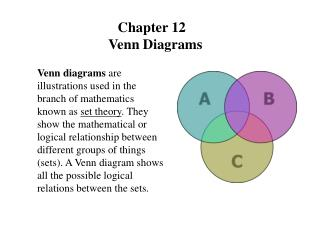 Chapter 12   Venn Diagrams