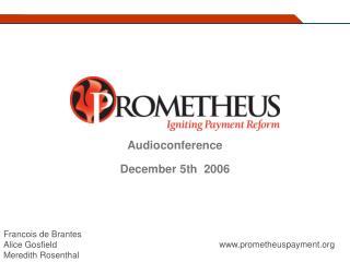 Audioconference December 5th  2006