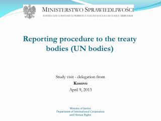Reporting  procedure  to the  treaty bodies  (UN  bodies )