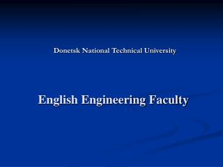 English Engineering Faculty