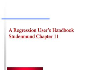 A Regression User's Handbook Studenmund Chapter 11
