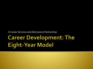 Career Development: The Eight-Year Model
