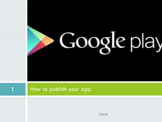 How to publish your app