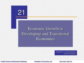 Economic Growth in Developing and Transitional Economies