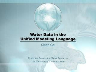 Water Data in the  Unified Modeling Language