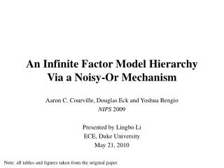 An Infinite Factor Model Hierarchy Via a Noisy-Or Mechanism