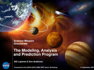 The Modeling, Analysis and Prediction Program