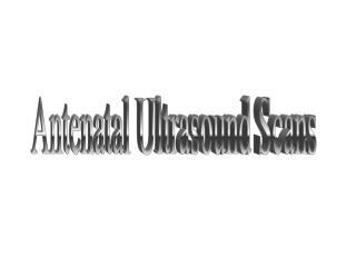 Antenatal Ultrasound Scans