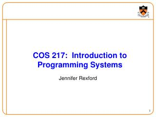 COS 217:  Introduction to Programming Systems