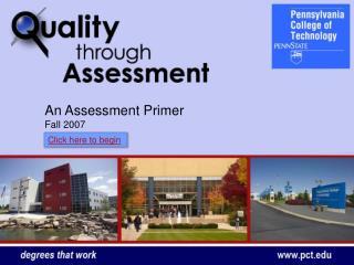 An Assessment Primer Fall 2007
