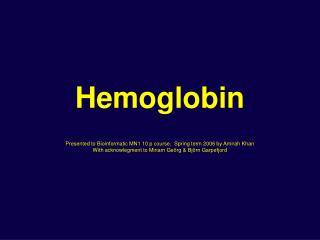 Hemoglobin – 3D Structure