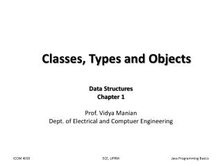 Classes, Types and Objects