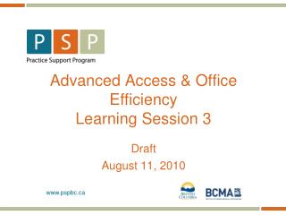 Advanced Access & Office Efficiency Learning Session 3