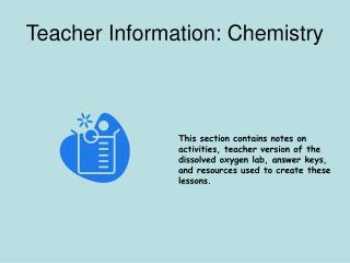 Teacher Information: Chemistry