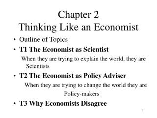 Chapter 2  Thinking Like an Economist