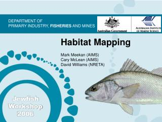 Habitat Mapping Mark Meekan (AIMS) Cary McLean (AIMS) David Williams (NRETA)