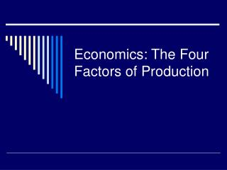 Economics: The Four Factors of Production