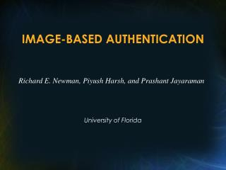 IMAGE-BASED AUTHENTICATION