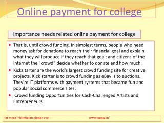 The Ideal Length for all online payment for college