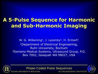 A 5-Pulse Sequence for Harmonic and Sub-Harmonic Imaging