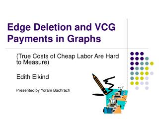 Edge Deletion and VCG Payments in Graphs