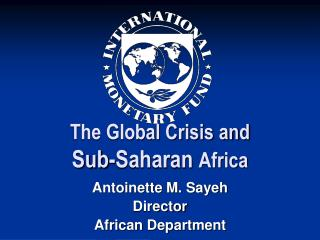 The Global Crisis and  Sub-Saharan  Africa